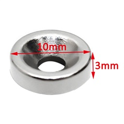 N35 Neodymium Ring Magnet (3mm Hole, 10mmx3mm)