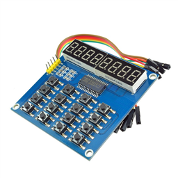 All-in-One TM1638 8-Digit LED Display, 16-Key Keyboard, 8Bit (3 Wire) Module