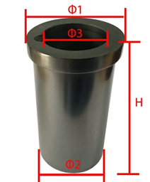 High Purity 1KG Graphite Crucible (Induction Heating)