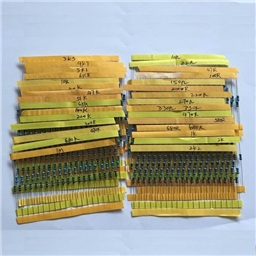 Metal Film Resistor pack 1/4W 1% - (10x 30 Values)