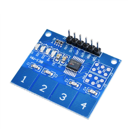 TTP224 4-Key Digital Capacitive Touch Keypad Module