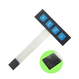 1x4 (4 Key) Matrix Membrane Keypad