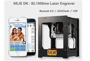 NEJE DK - BL1500mw Laser Engraver Machine  -550 x 550 Resolution (Supports Windows Pc, Andriod, IOS)