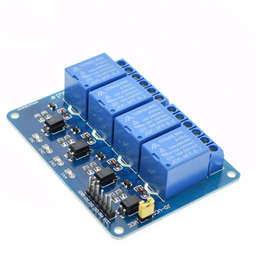4-Channel Optocoupler Relay Module (10A/250V AC; 10A/30V DC; Negative Trigger)