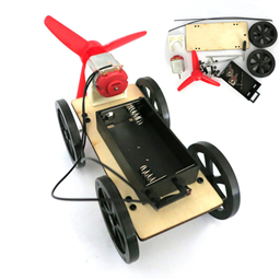 Mini Wind Powered DIY Toy Car Kit for Children/Education (Chinese Manual)