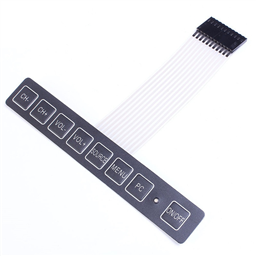 1x8 Membrane Matrix Array PC/TV Keypad