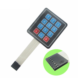 4x3 Matrix (12 Key) Membrane Keypad