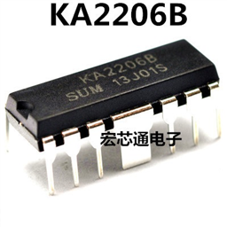 KA2206B IC  (DIP12, 2.3W Dual Audio Power Amplifier)