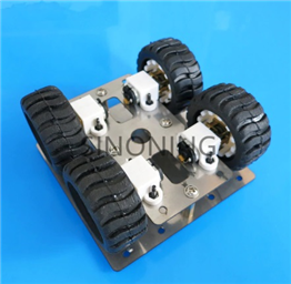 Stainless Steel 4WD Robot Car Chassis