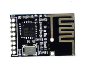 2.4GHz Wireless Transceiver SMD Module (NRF24L01, onboard antenna, SMD pins)