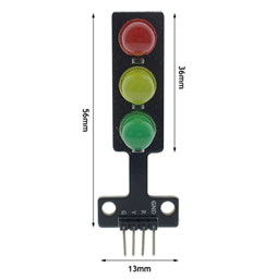 Mini 5V Traffic Light LED Display Module