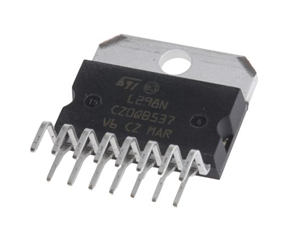 L298N IC (H-Bridge Motor Driver IC, 46V, 4A ,15-Pin)