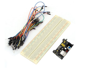 Breadboard Starter Kit (840 Tie-Points Breadboard + Power Supply Module + 65 Jumper Wires)