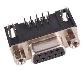 DB-9/DE-9 D-SUB FEMALE CONNECTOR - BOARD MOUNT